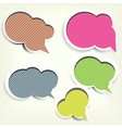 Paper origami speech bubble colored blank for text vector