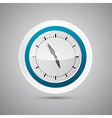Abstract 3d paper blue and white clock vector