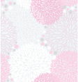 Seamless pink flowers pattern vector