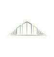 Green architect logo vector