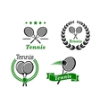 Tennis icons and emblems vector