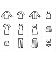 Clothing icons set 2 vector