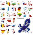 European union map vector