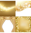 Golden backgrounds vector