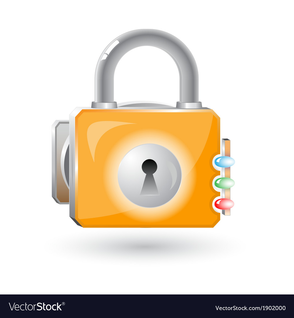 3d lock icon vector | Price: 1 Credit (USD $1)
