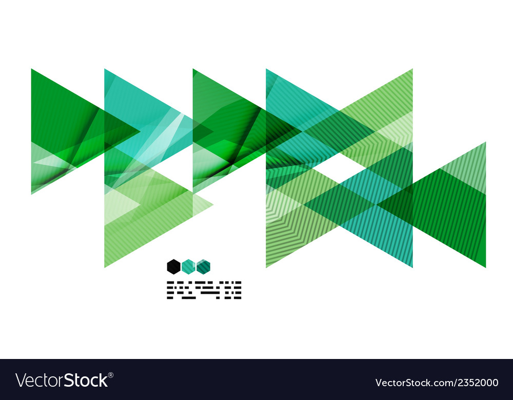 Bright green geometric modern design template vector | Price: 1 Credit (USD $1)