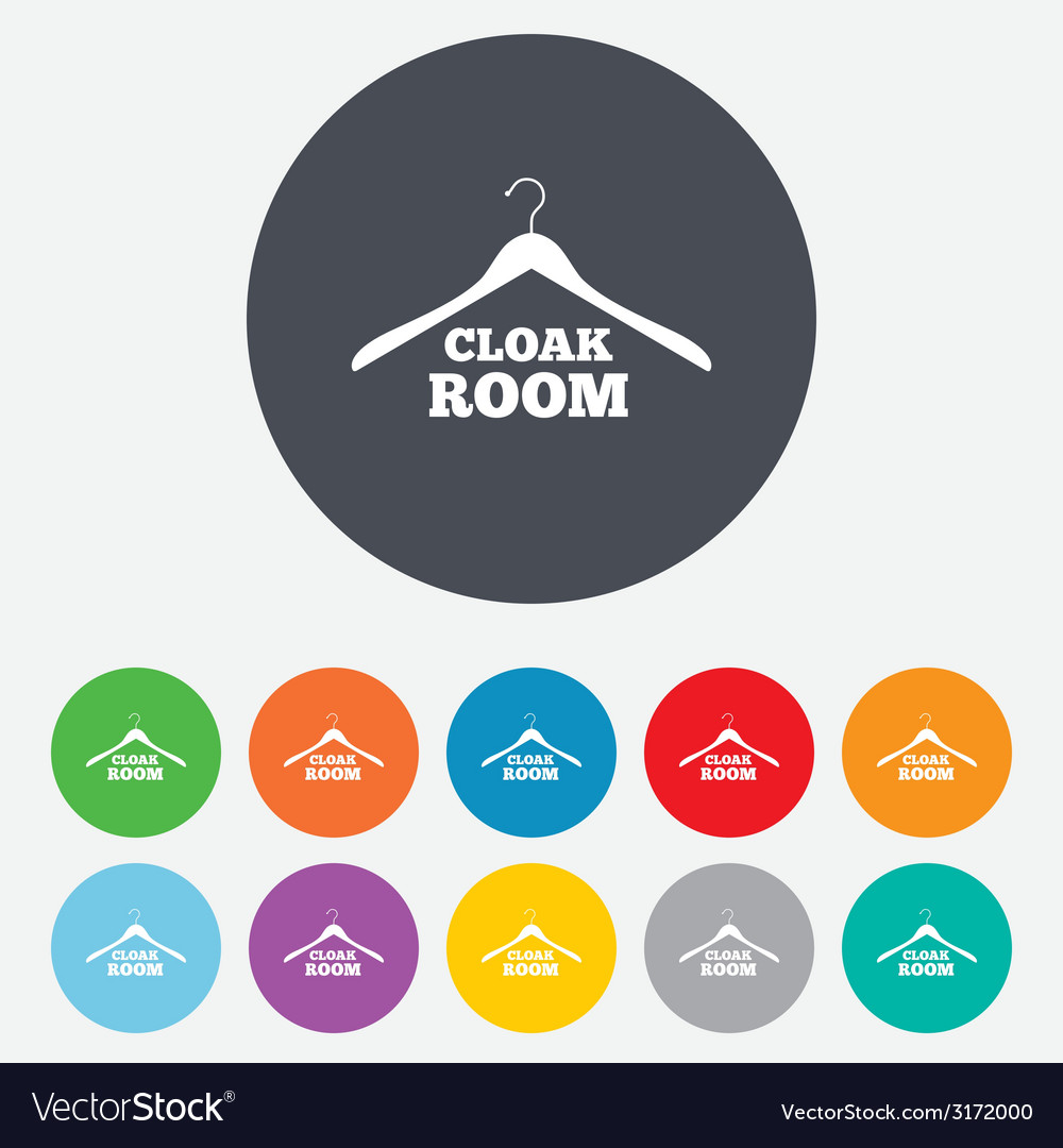Cloakroom sign icon hanger wardrobe symbol vector | Price: 1 Credit (USD $1)
