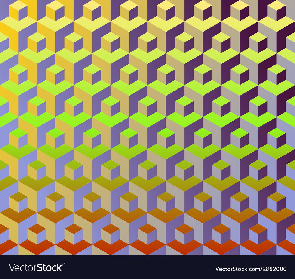 Cubes pattern vector | Price: 1 Credit (USD $1)