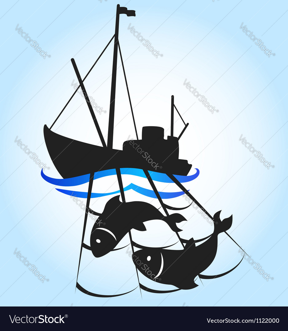Fishing vessel vector | Price: 1 Credit (USD $1)