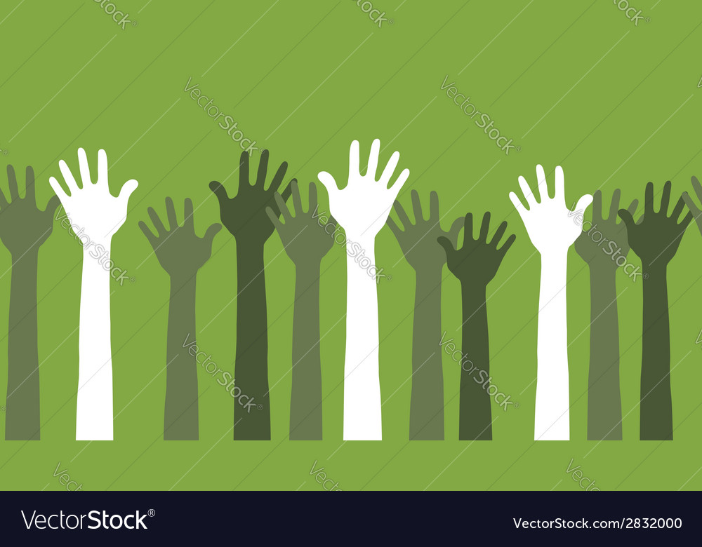 Hands in the air seamless vector | Price: 1 Credit (USD $1)