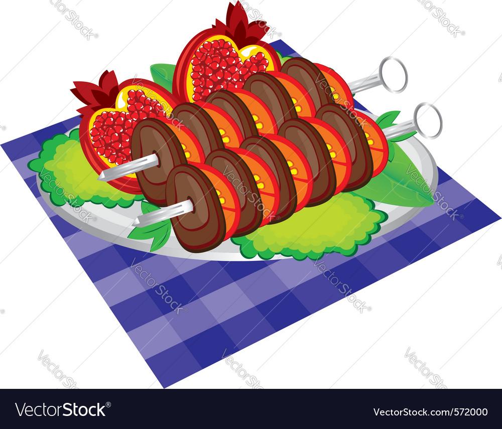 Kebab dish vector | Price: 1 Credit (USD $1)
