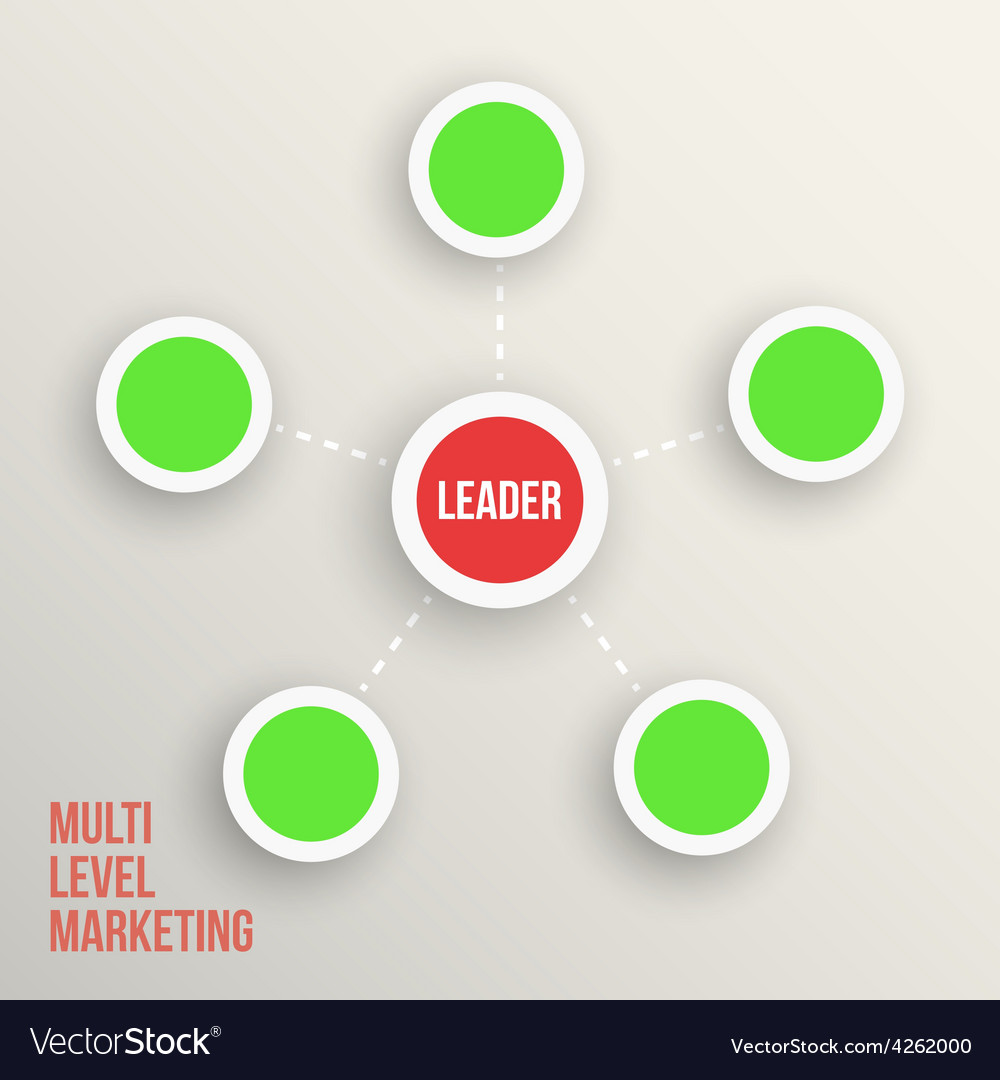 Multi level marketing leader diagramm vector | Price: 1 Credit (USD $1)