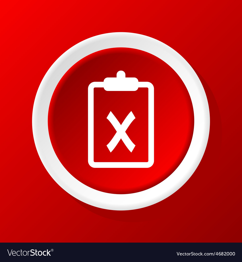 Negative decision icon on red vector | Price: 1 Credit (USD $1)