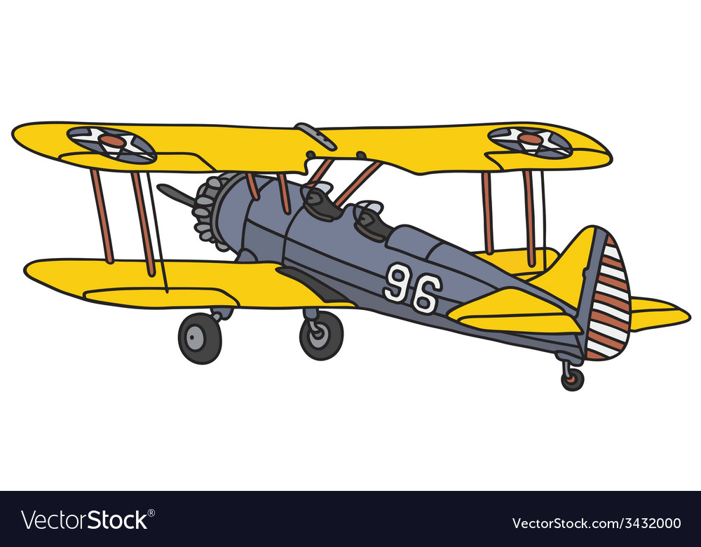 Old american biplane vector | Price: 1 Credit (USD $1)