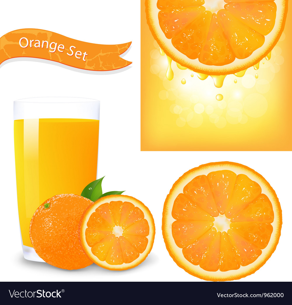 Orange juice background vector | Price: 1 Credit (USD $1)