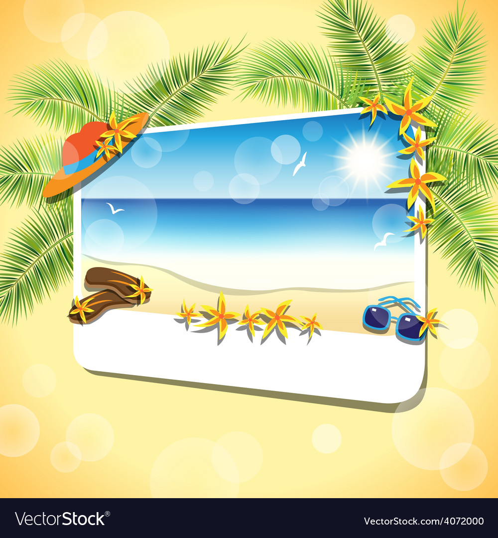 Picture of the sand beach landscape vector | Price: 3 Credit (USD $3)