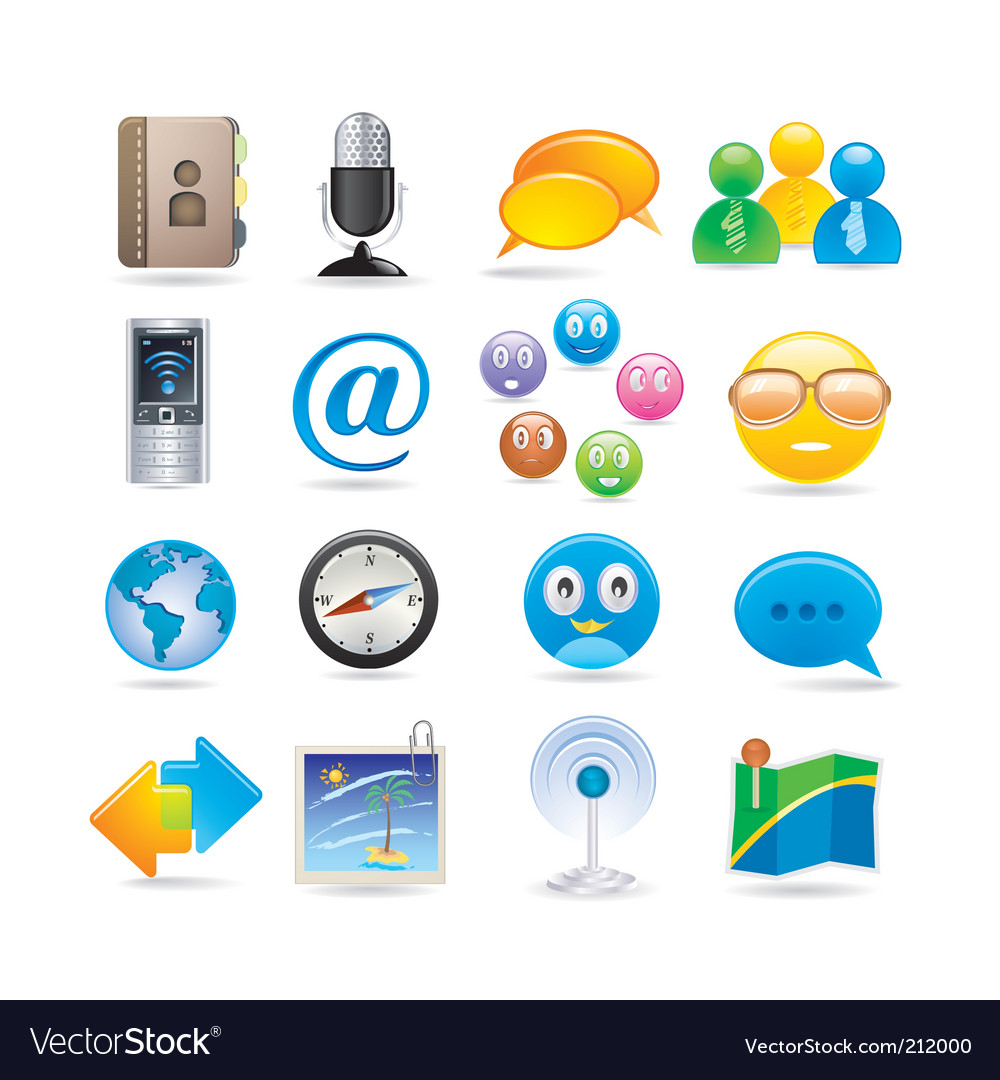 Social media icon set vector | Price: 3 Credit (USD $3)