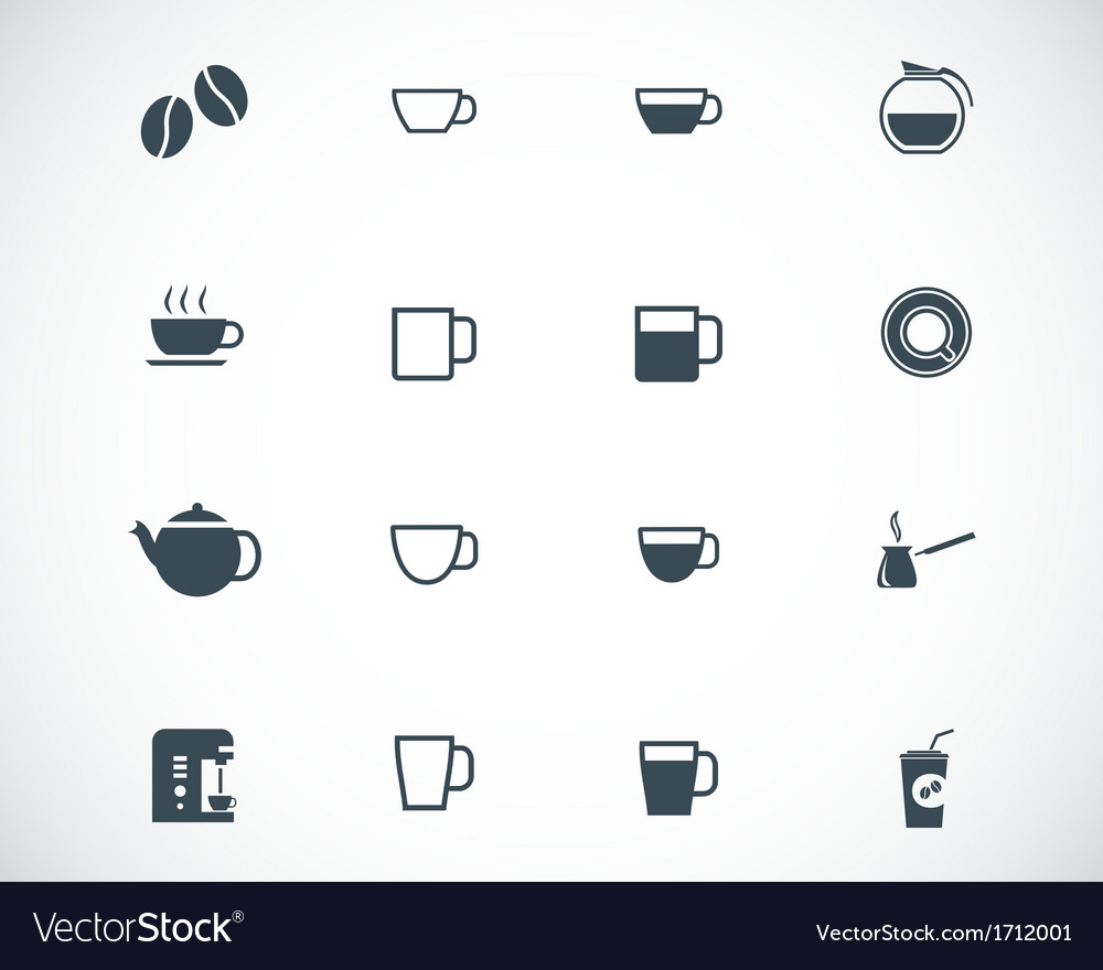 Black coffe icons set vector | Price: 1 Credit (USD $1)