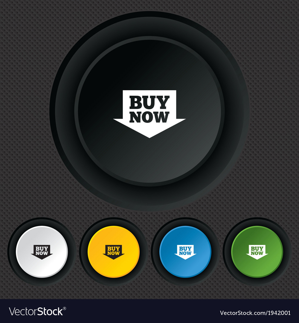 Buy now sign icon online buying arrow button vector | Price: 1 Credit (USD $1)