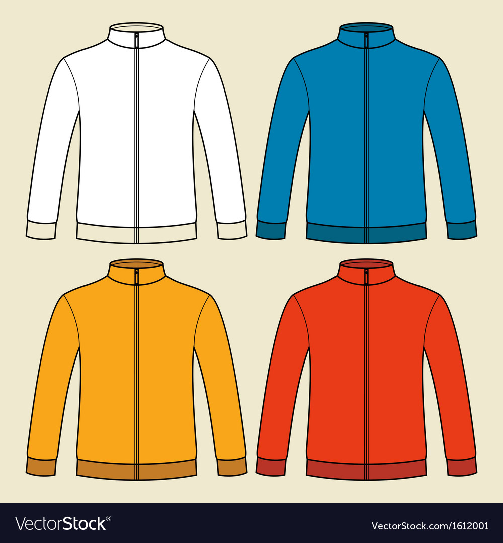 Colorful sweatshirts template vector | Price: 1 Credit (USD $1)