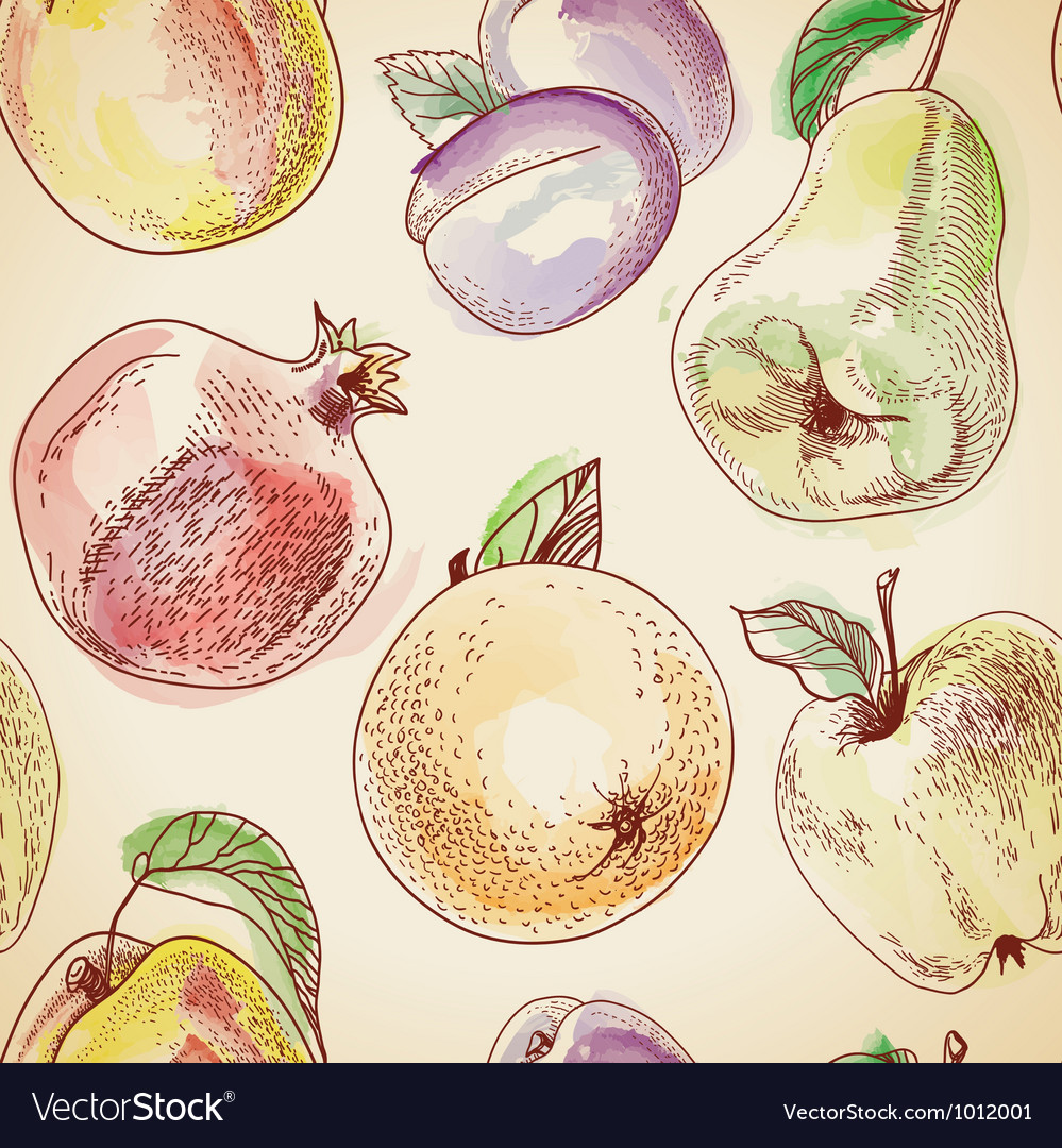 Fruit pattern vector | Price: 1 Credit (USD $1)