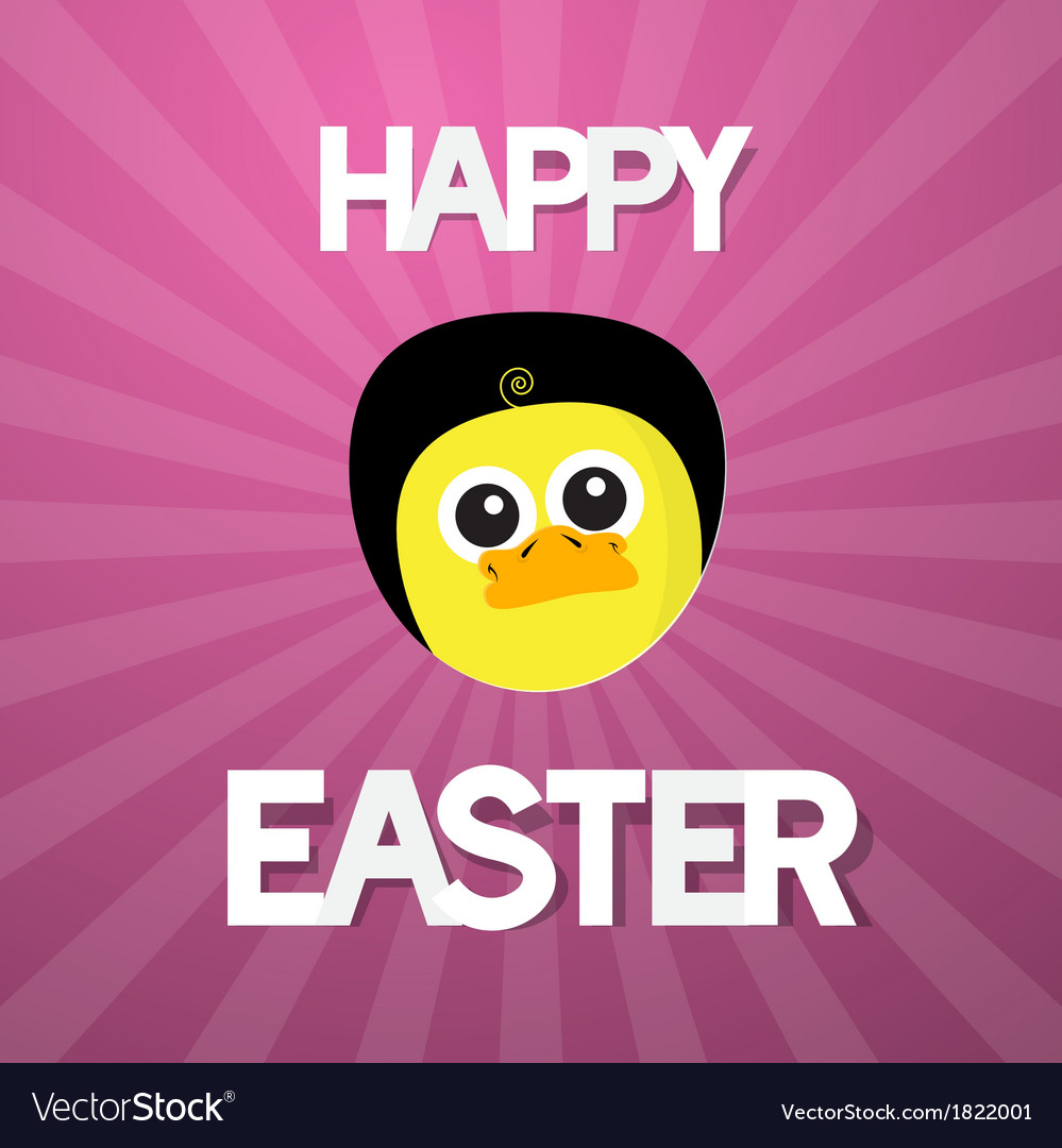 Happy easter abstract pink background with funny vector | Price: 1 Credit (USD $1)