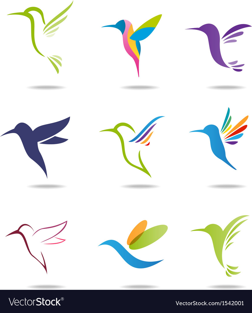 Hummingbird logo vector | Price: 1 Credit (USD $1)
