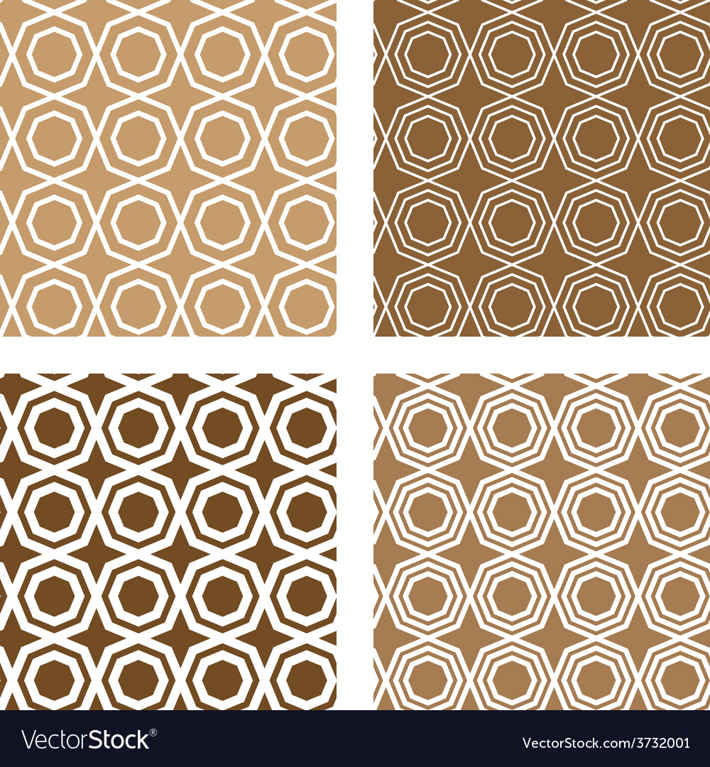 Line octagon tile seamless background vector | Price: 1 Credit (USD $1)