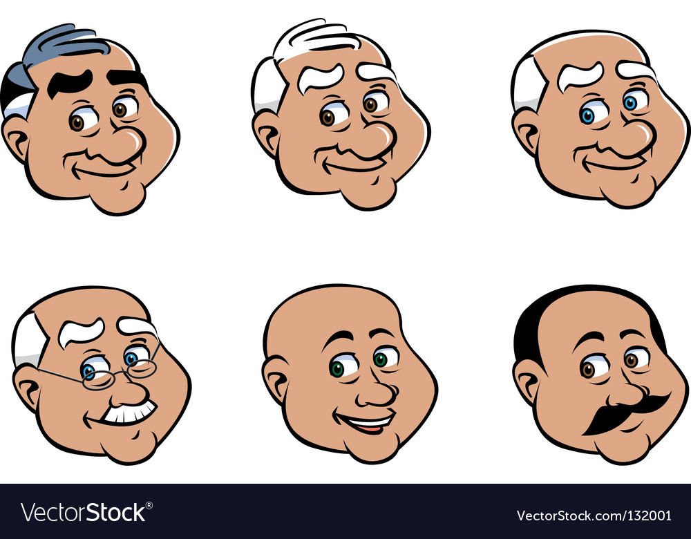 Old man's face vector | Price: 1 Credit (USD $1)