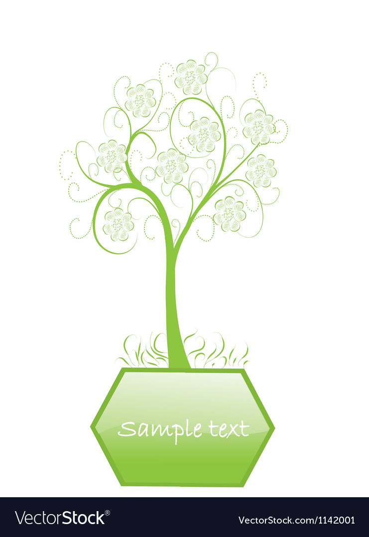 One abstract tree vector | Price: 1 Credit (USD $1)