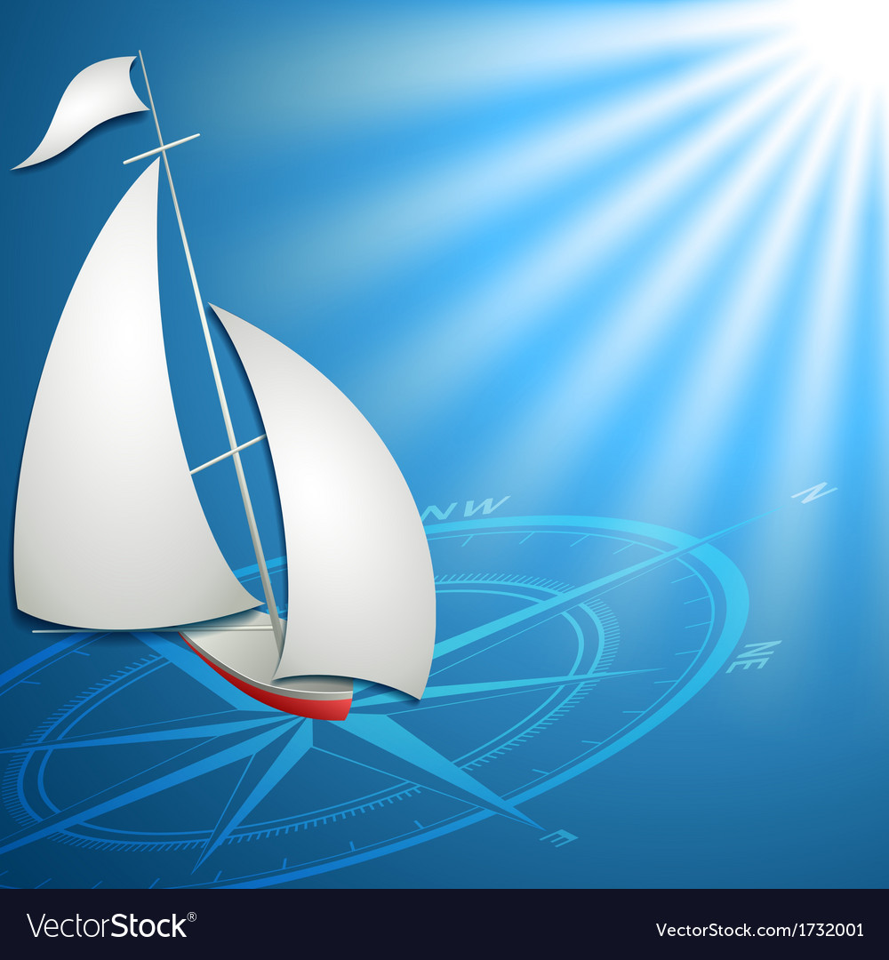Sailfish with compass in the blue ocean for vector   Price: 1 Credit (USD $1)