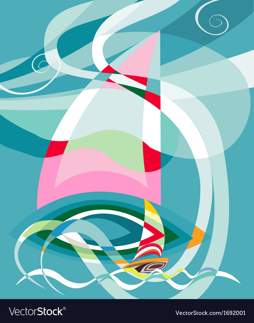 Sailing race vector | Price: 1 Credit (USD $1)