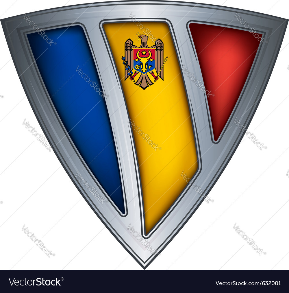 Steel shield with flag moldavia vector | Price: 1 Credit (USD $1)