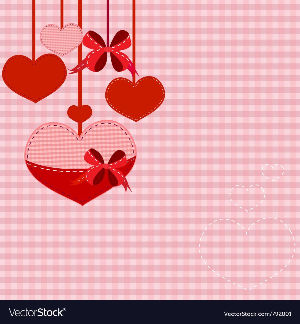 Valentine hearts background vector   Price: 1 Credit (USD $1)