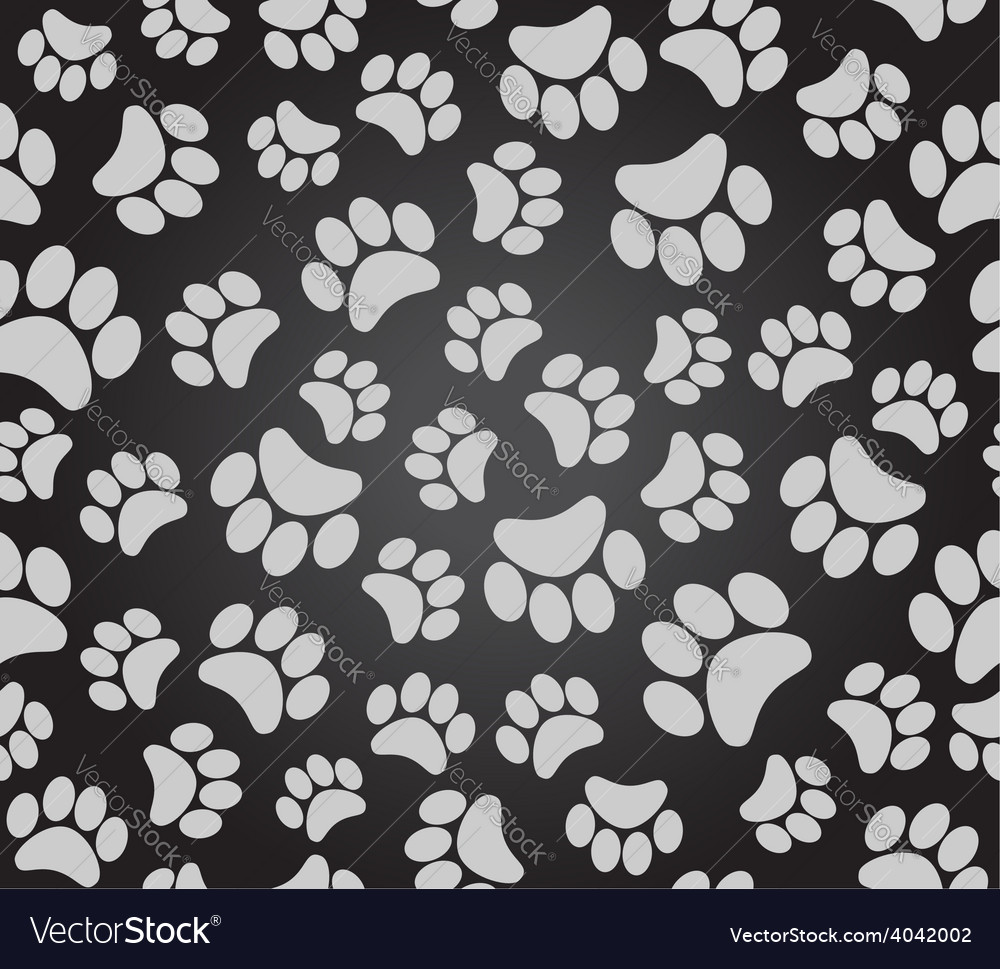 Background animal footprints vector | Price: 1 Credit (USD $1)
