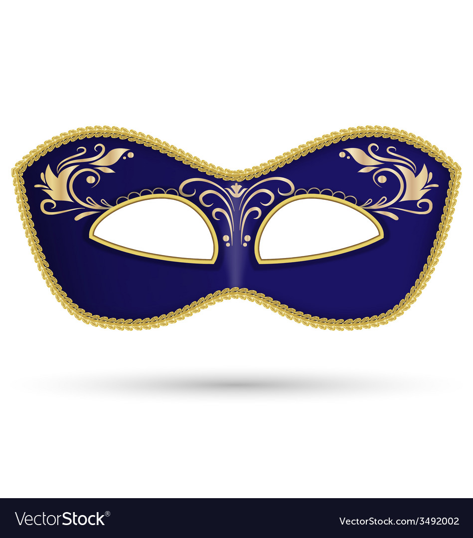 Blue mask with golden braid vector | Price: 1 Credit (USD $1)