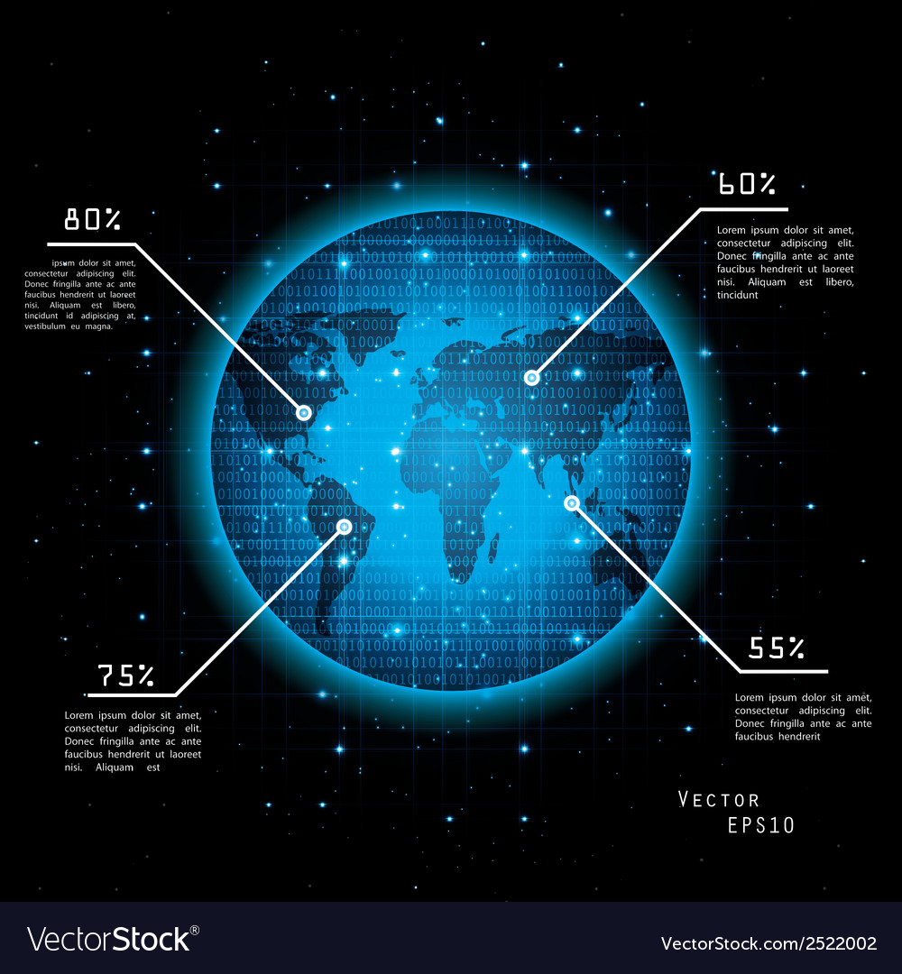 Earth from space vector | Price: 1 Credit (USD $1)