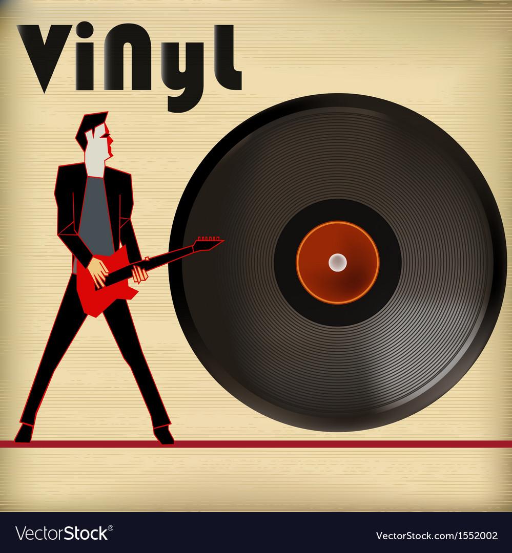 Guitar vinyl vector   Price: 1 Credit (USD $1)