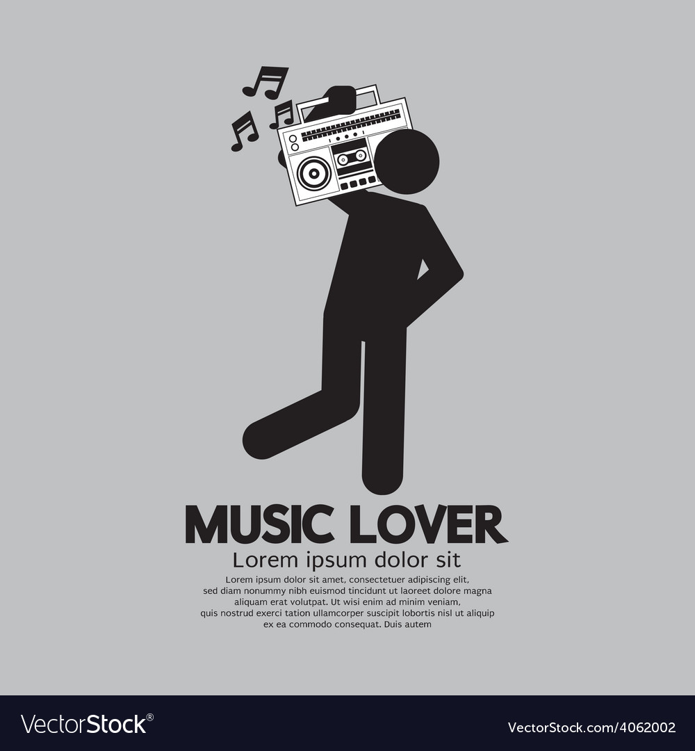 Man with radio music lover concept vector | Price: 1 Credit (USD $1)