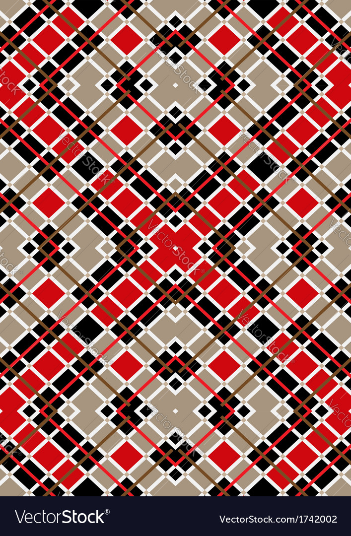 Motley red brown white squares vector | Price: 1 Credit (USD $1)