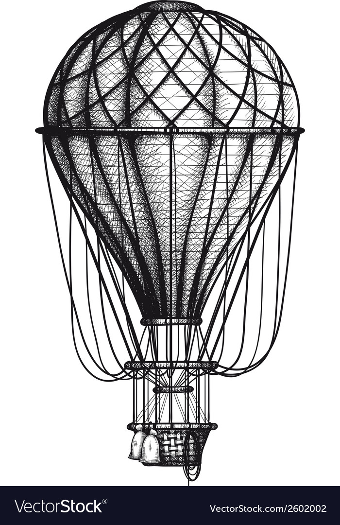 Old air ballon vector | Price: 1 Credit (USD $1)