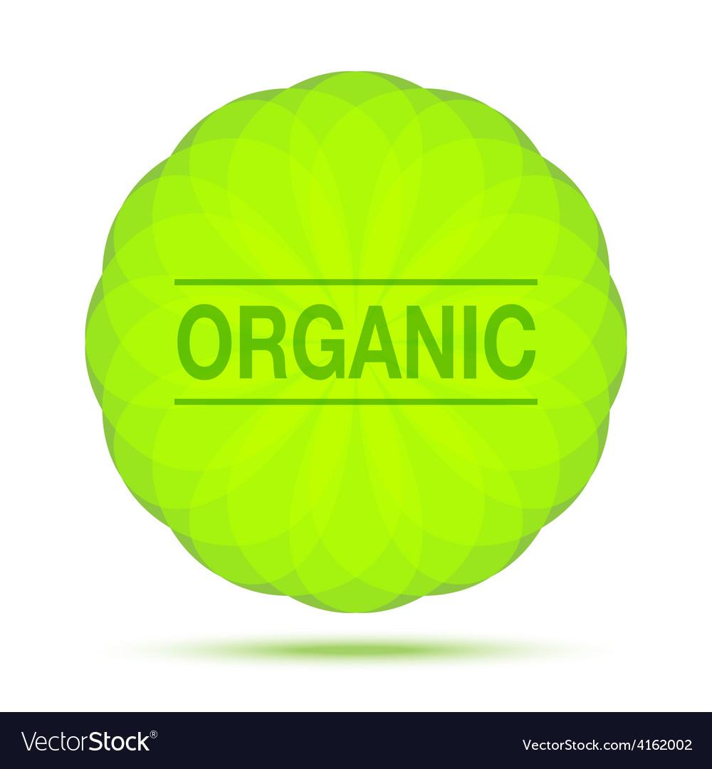 Organic natural circular green emblem vector | Price: 1 Credit (USD $1)