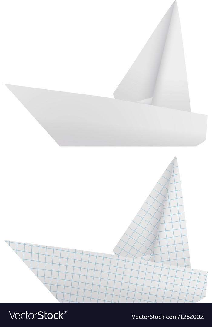 Origami ships vector | Price: 1 Credit (USD $1)