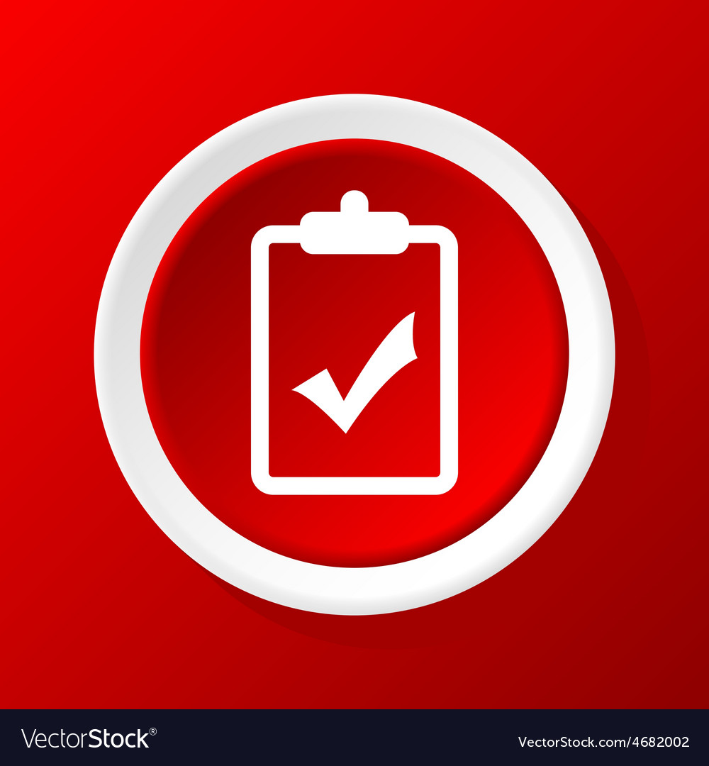 Positive decision icon on red vector | Price: 1 Credit (USD $1)