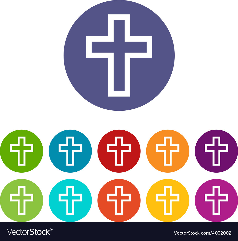 Protestant cross flat icon vector | Price: 1 Credit (USD $1)