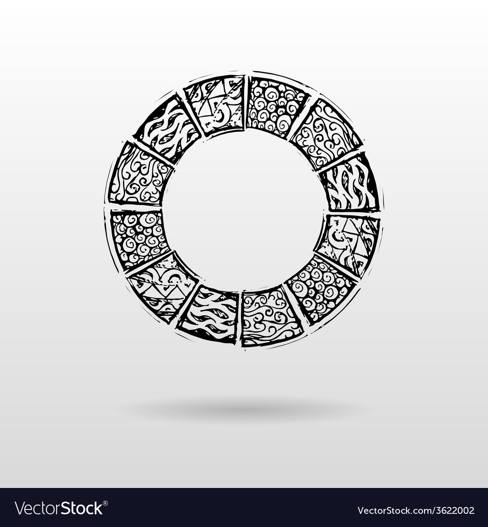 Round patterned mayar background vector | Price: 1 Credit (USD $1)