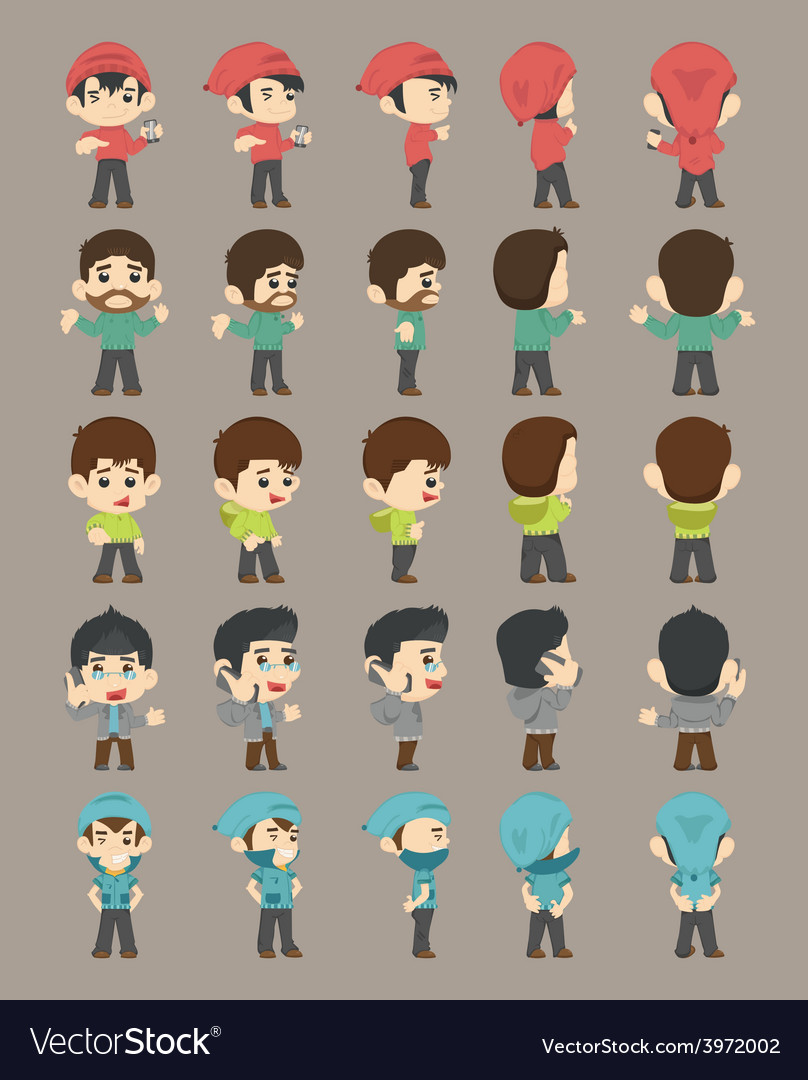 Winter collection character vector | Price: 1 Credit (USD $1)