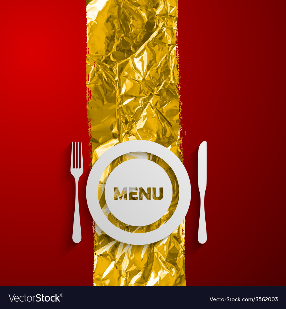 A plate and cutlery on the red and golden vector   Price: 1 Credit (USD $1)