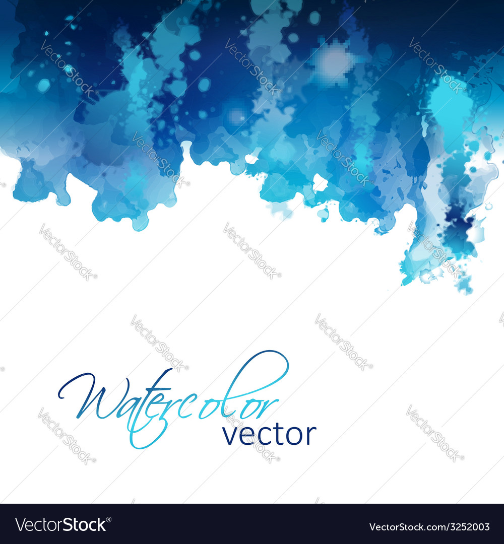 Abstract watercolor header background vector | Price: 1 Credit (USD $1)