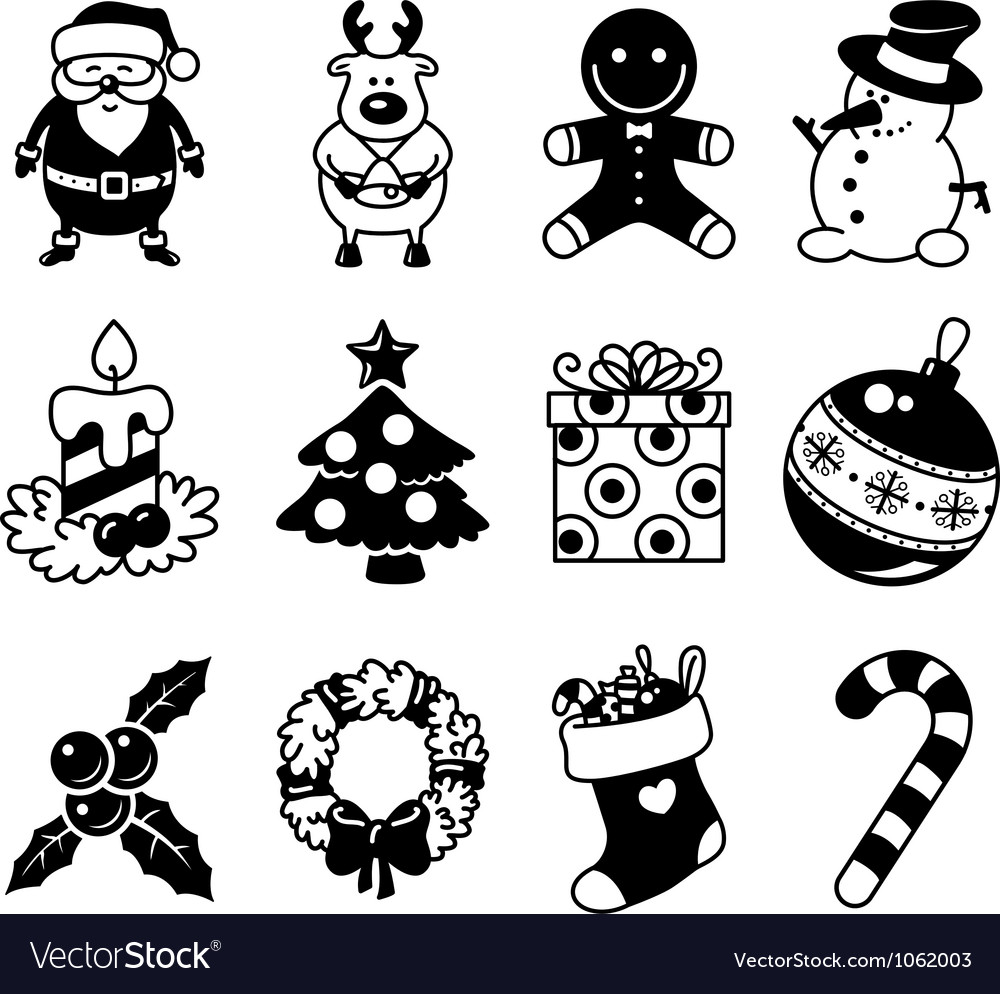 Christmas icons vector | Price: 1 Credit (USD $1)